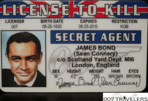 007 Travelers: 007 Item: License To Kill Id Card for Mi6 Id Card Template