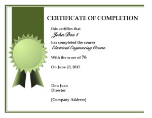 008 Certificate Completion Template Ideas ~ Ulyssesroom With throughout Certificate Of Completion Word Template