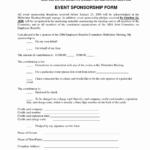 008 Event Sponsorship Form Template Sponsor Forms Luxury For Sponsor Card Template