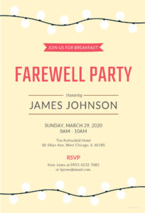 008 Farewellnvitations Templates Template Free pertaining to Farewell Certificate Template