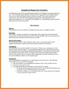 008 Formal Lab Report Template Ideas Frightening Chemistry regarding Lab Report Template Chemistry