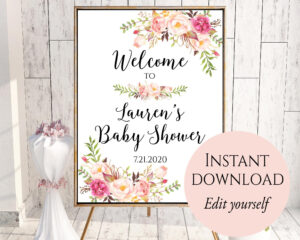 009 Bridal Shower Welcome Sign Template Astounding Ideas pertaining to Free Bridal Shower Banner Template