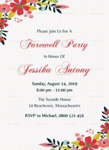 009 Farewell Party Invitations Templates Invitation28129 in Farewell Card Template Word