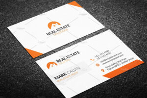 009 Real Estate Business Card Template Creative in Real Estate Business Cards Templates Free