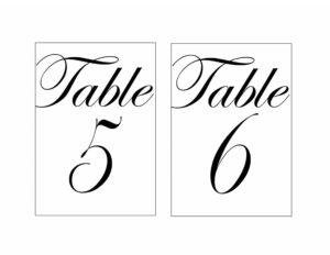 009 Table Number Template Word inside Table Number Cards Template