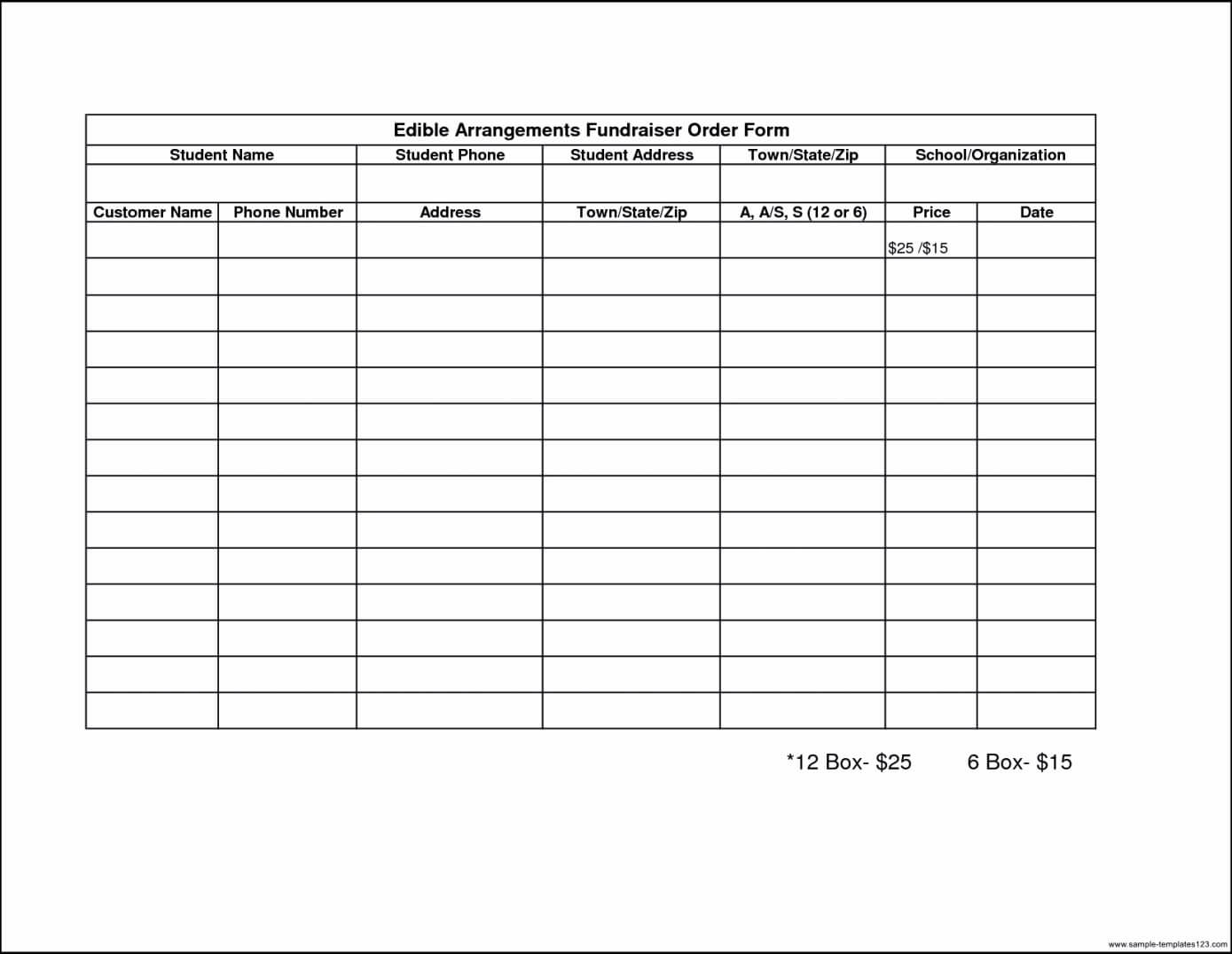 010 Blank Fundraiser Order Form Template Final Photos Intended For Blank Fundraiser Order Form Template