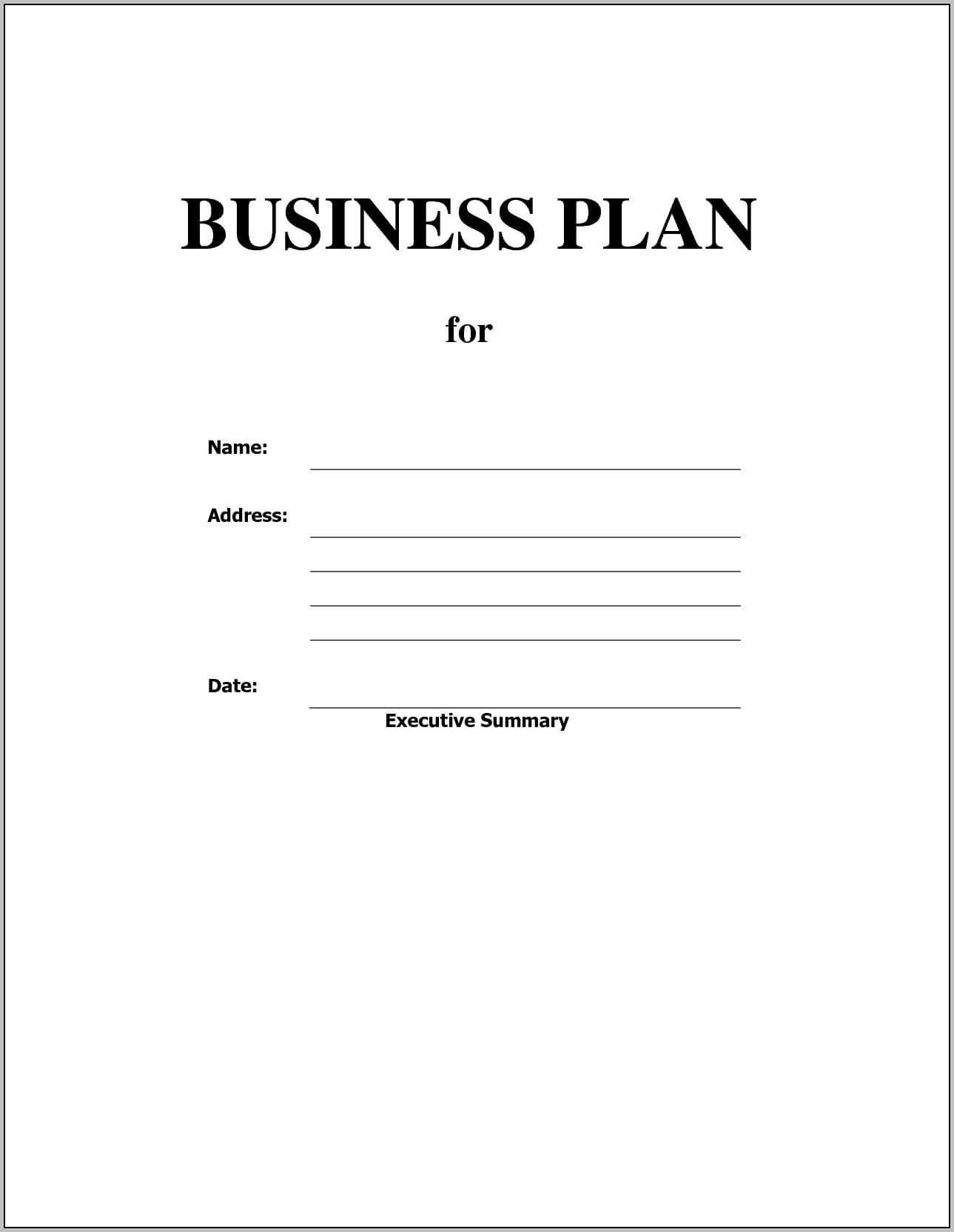 010 Business Plan Template Free Word Doc Blank At Impressive Throughout Business Plan Template Free Word Document