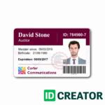010 Employee Id Card Template Ideas Business Maker Beautiful Regarding Work Id Card Template