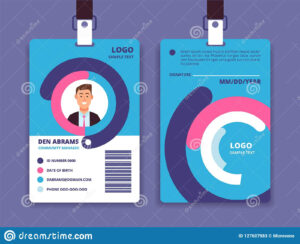 010 Employee Id Card Templates Corporate Professional regarding Company Id Card Design Template