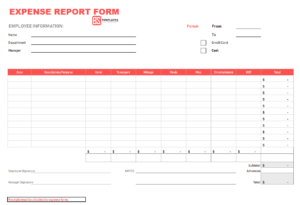 010 Expense Report Form 4 Employee Template Unusual Ideas regarding Per Diem Expense Report Template