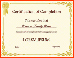 010 Free Templates For Certificates Sample Certificate regarding Soccer Certificate Templates For Word