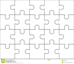 010 Jig Saw Puzzle Template Jigsaw Blank Twenty Pieces with regard to Blank Jigsaw Piece Template