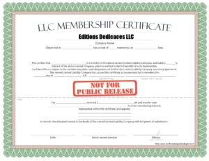 010 Llc Membership Certificate Template Best Solutions For intended for Llc Membership Certificate Template