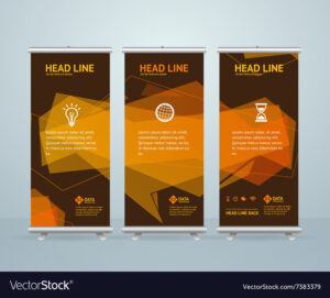 010 Roll Up Banner Stand Design Template Vector Breathtaking regarding Banner Stand Design Templates