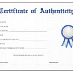 011 Certificate Of Authenticity Artwork Template Resume Art Within Free Art Certificate Templates