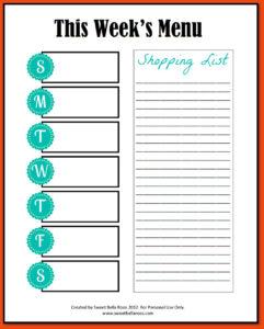 012 20Blank Meal Plan Template Word Editable Weekly Planner with regard to Meal Plan Template Word