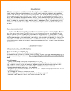012 Biology Lab Report Example Examples Template Outstanding for Ib Lab Report Template