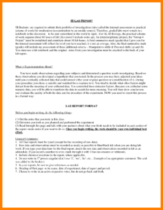 012 Biology Lab Report Example Examples Template Outstanding with Ib Lab Report Template