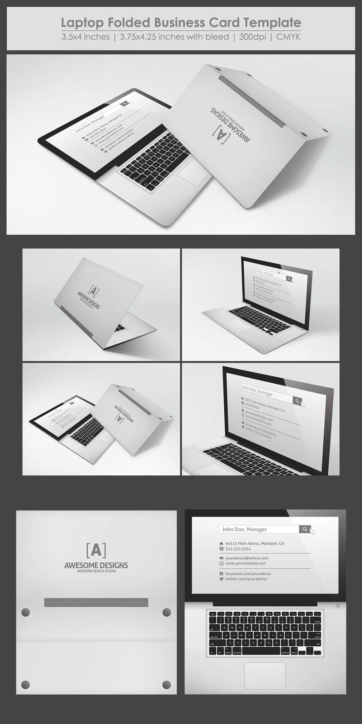 012 Folded Business Card Templates Template Ideas Unusual With Fold Over Business Card Template