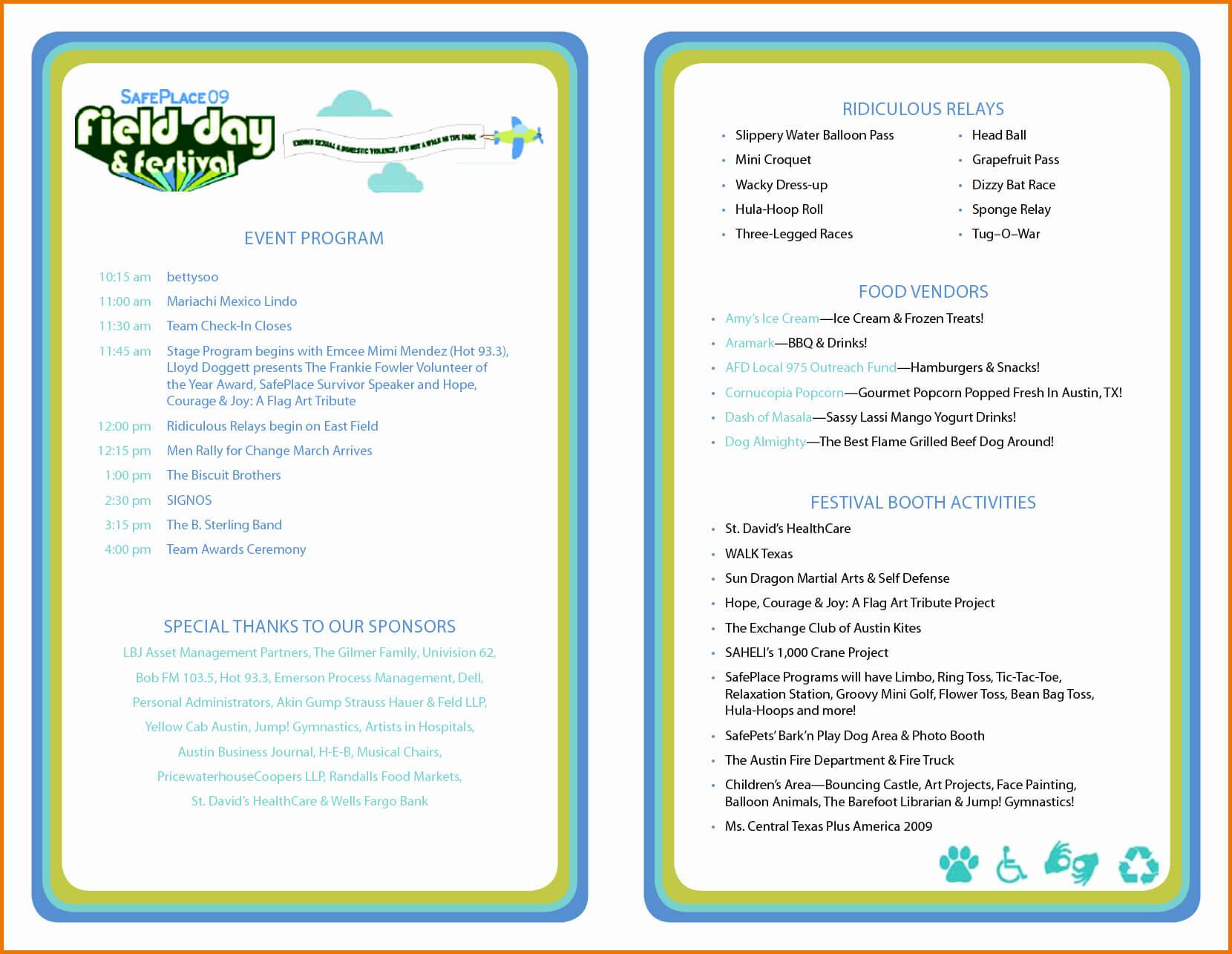 012 Template Ideas Free Printable Wedding Program Templates Regarding Free Event Program Templates Word