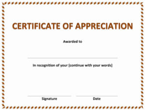 013 Certificates Of Appreciation Templates Printable with regard to Certificates Of Appreciation Template