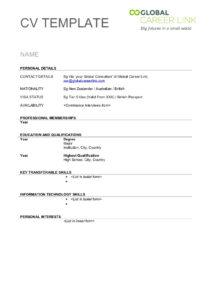 013 Cvtemplate2012 Phpapp01 Thumbnail Blank Basic Resume with Free Basic Resume Templates Microsoft Word