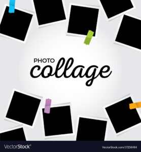 013 Photo Collage Template Vector Ideas Free Sensational for Free Word Collage Template