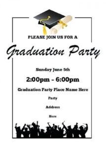 013 Printable Word Free Graduation Party Invitation with Free Graduation Invitation Templates For Word