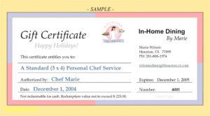 013 Restaurant Gift Certificate Templates Unique With Restaurant Gift Certificate Template