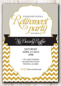 013 Retirement Party Invitation Template Free Templates inside Retirement Card Template