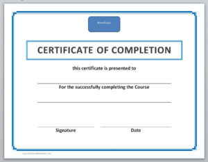 014 Certificate Of Achievement Template Word Completion intended for Army Certificate Of Completion Template