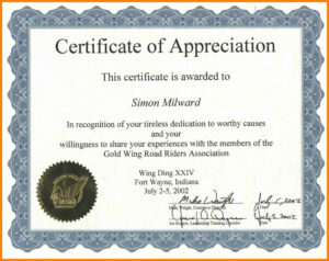 014 Certificate Of Appreciation Sample Wording Reference within Army Certificate Of Appreciation Template