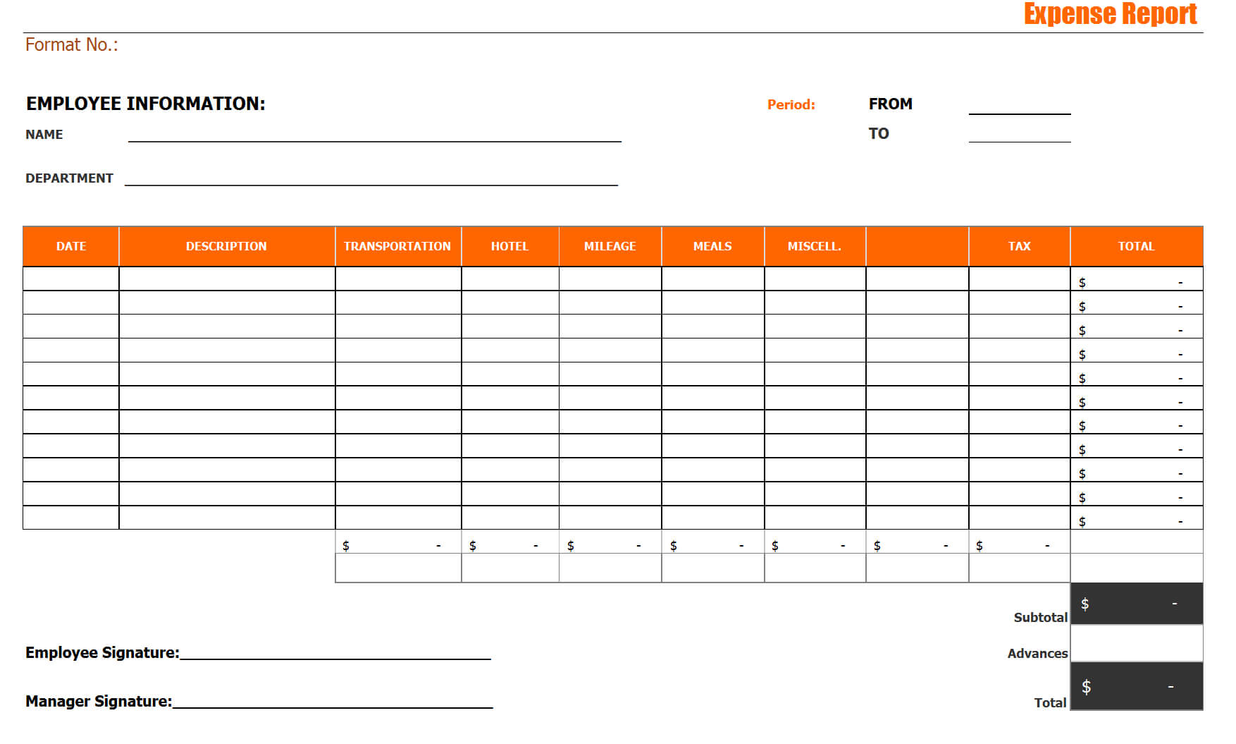 014 Free Expenses Report Template Expense Imposing Ideas Throughout Microsoft Word Expense Report Template