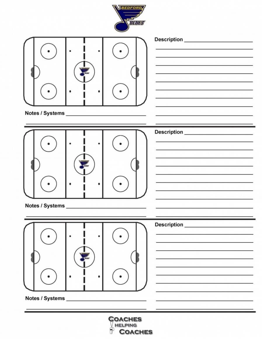 014 Plan Template Hockey Practice Rink Diagram Elegant With Blank Hockey Practice Plan Template