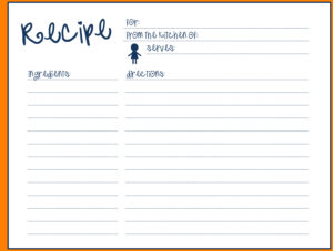 014 Recipe Template For Word Blank Card Simple Fillable within Full Page Recipe Template For Word