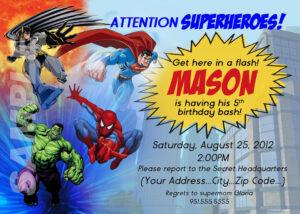 014 Superhero Invitation Template Free Ideas Birthday Party pertaining to Superhero Birthday Card Template