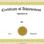 014 Template Ideas Award Templates Certificate Of Striking Intended For Free Template For Certificate Of Recognition