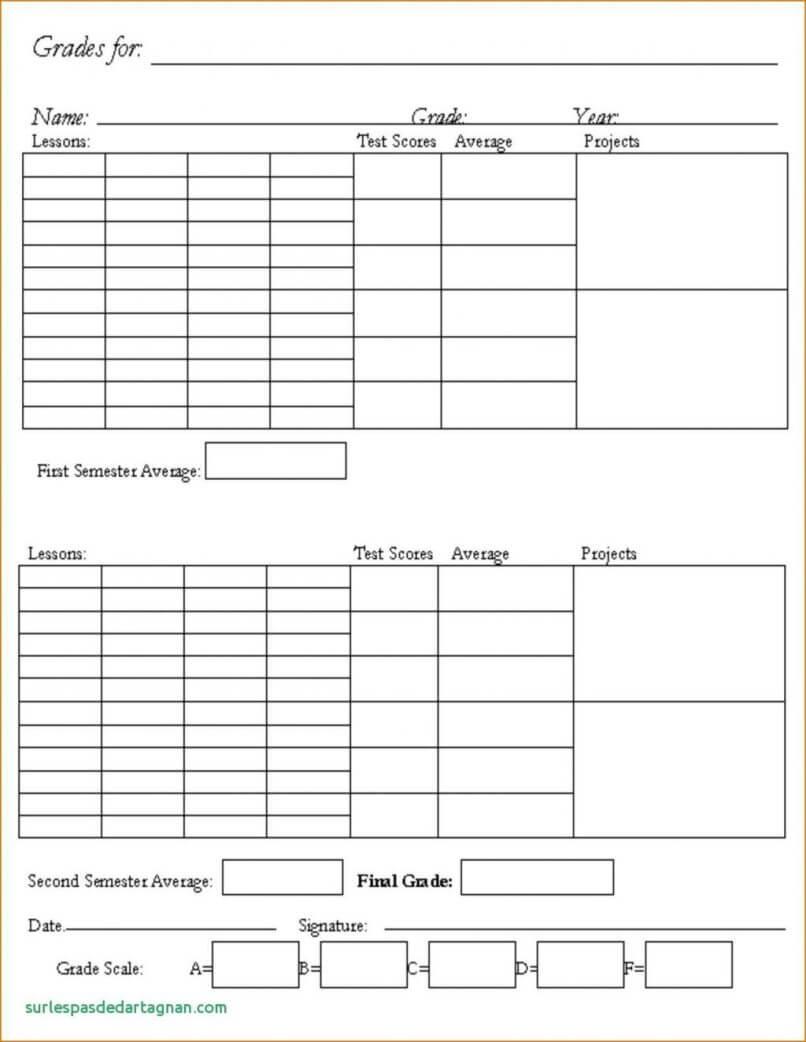 014 Template Ideas Report Card Homeschool Pdf Ontario Middle Inside Homeschool Report Card Template