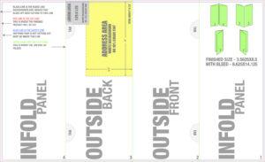 015 5X14 Doublegatefold Mailing Gate Fold Brochure Template with Gate Fold Brochure Template Indesign