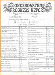 015 Kindergarten Report Card Template Ideas Templates High for Kindergarten Report Card Template