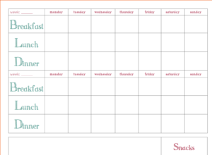 015 Menu Planning Template Word Plan Weekly Meal in Menu Planning Template Word