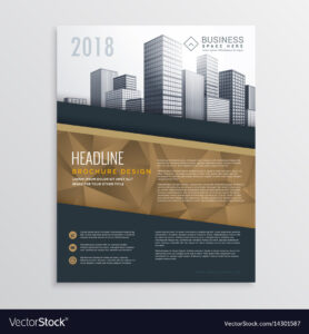 015 Real Estate Brochure Flyer Template Design With Vector Intended For Real Estate Brochure Templates Psd Free Download