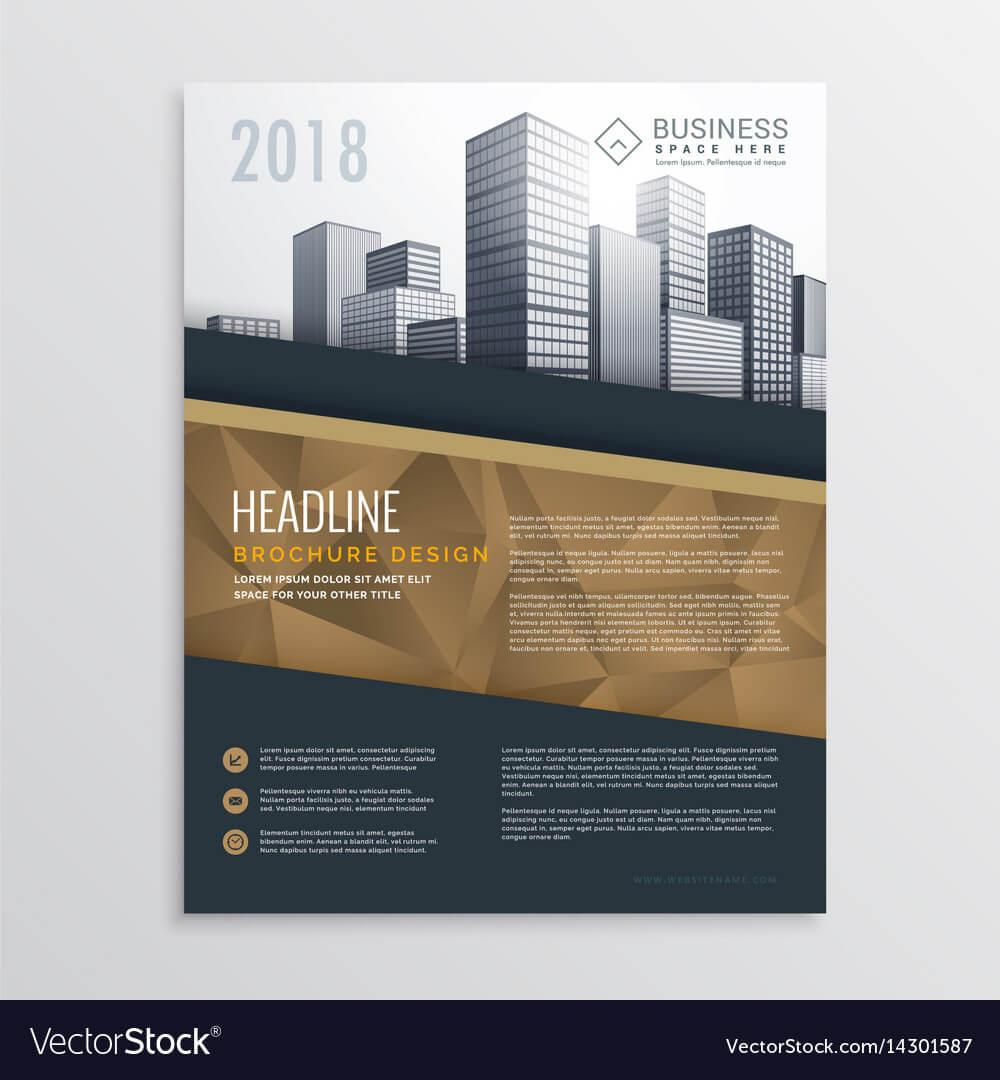 015 Real Estate Brochure Flyer Template Design With Vector Intended For Real Estate Brochure Templates Psd Free Download