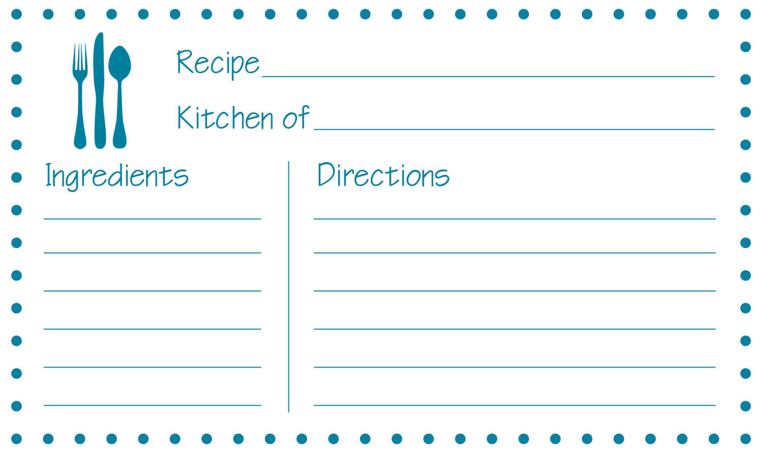 015 Template Ideas Free Editable Recipe Card Templates For Within 4X6 Photo Card Template Free