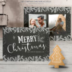 015 Template Ideas Photo Christmas Card Impressive Templates Intended For Free Photoshop Christmas Card Templates For Photographers