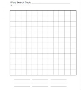 015 Word Search Creator Free Printable Words For Preschool inside Word Sleuth Template
