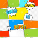 016 Comic Book Powerpoint Template Vector Mock Up Typical Intended For Powerpoint Comic Template