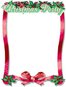 016 Free Christmas Border Templates Ms Word Template within Christmas Border Word Template