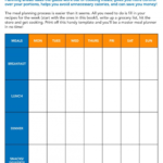016 Printable Weekly Meal Planner Template Word Free Menu For Weekly Meal Planner Template Word