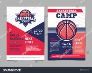 017 Basketball Camp Flyer Template Stock Vector Posters With with Basketball Camp Brochure Template